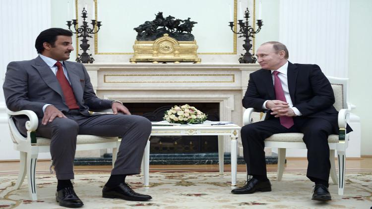 بوتين وأمير قطر يؤكدان أهمية التزام جميع الأطراف في سوريا بالهدنة