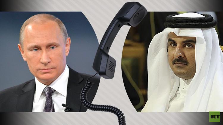 الكرملين يكشف عن حيثيات مكالمة هاتفية بين الرئيس الروسي وأمير قطر