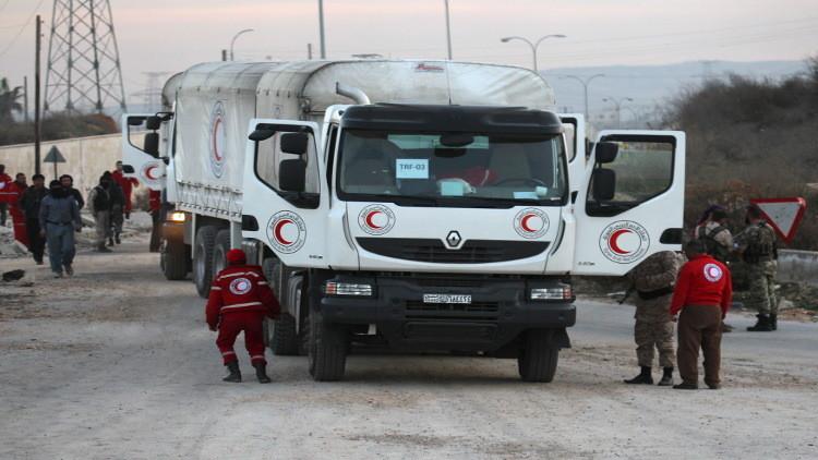تعرض قوافل المساعدات الإنسانية الروسية في سوريا لإطلاق النار