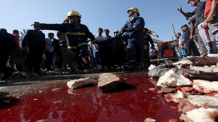 مقتل ثلاثة وإصابة العشرات في تفجير انتحاري وسط بغداد و