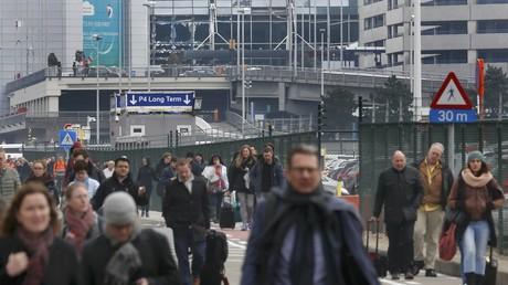 مطار بروكسل عقب التفجيرات الإرهابية