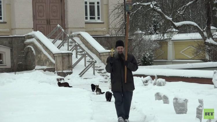 قسيس يبارك قططا في مسيرة حول كاتدرائيته (فيديو)