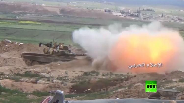 بالفيديو.. اشتباكات بين الجيش السوري و