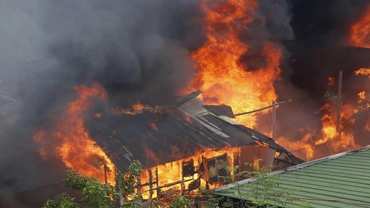 مصرع 8 أشخاص بينهم 3 أطفال جراء حريق في منزل بمقاطعة تومسك