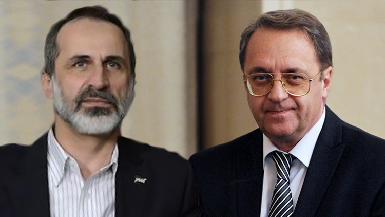 ميخائيل بوغدانوف وأحمد معاذ الخطيب
