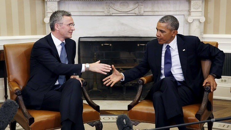 أوباما يبحث وستولتنبرغ الحرب ضد داعش