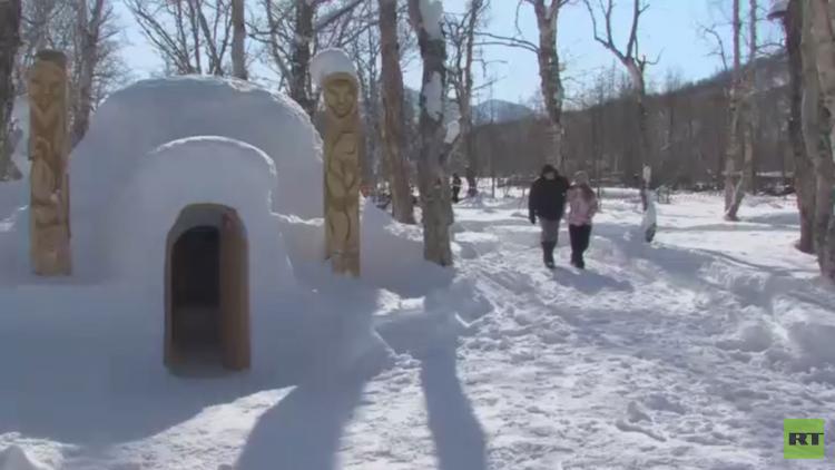 حرارة الضيافة في فندق الثلج الروسي