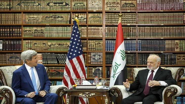 كيري يصل بغداد في زيارة غير معلنة