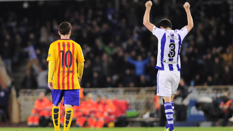 برشلونة يسقط أمام ريال سوسييداد .. (فيديو)