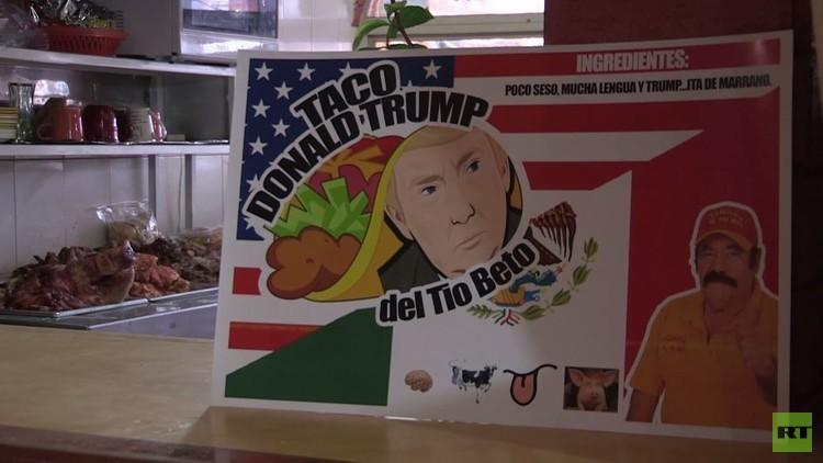 طبق في مطعم مكسيكي يحاكي المرشح للرئاسة الأمريكية دونالد ترامب (فيديو)