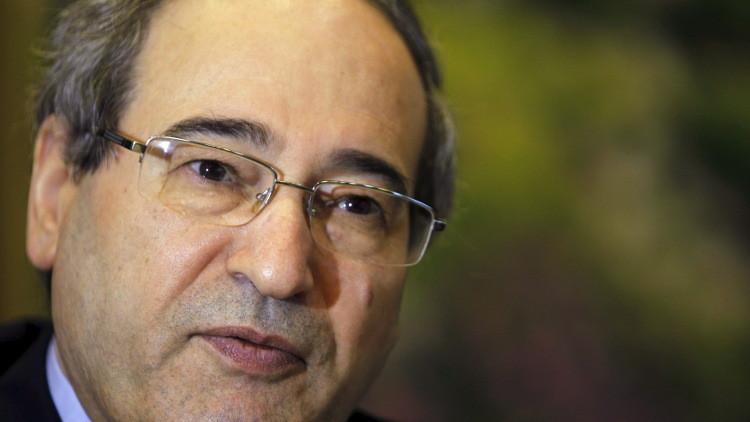 المقداد: لا نعارض إجراء مفاوضات مباشرة مع المعارضة في جنيف