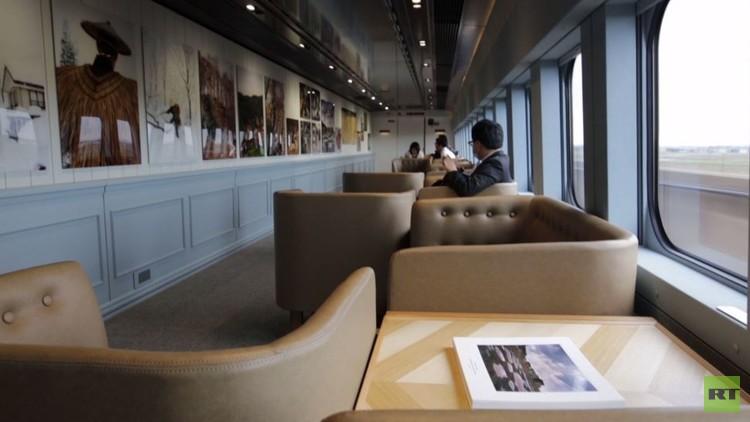 يابانيون يجولون في أرجاء أسرع متحف للفنون الجميلة في العالم (فيديو)