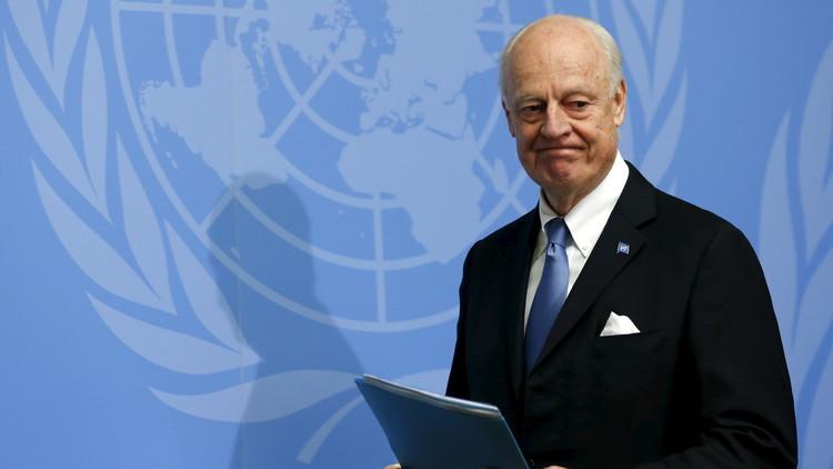 دي ميستورا يستأنف لقاءاته مع الأطراف السورية في جنيف