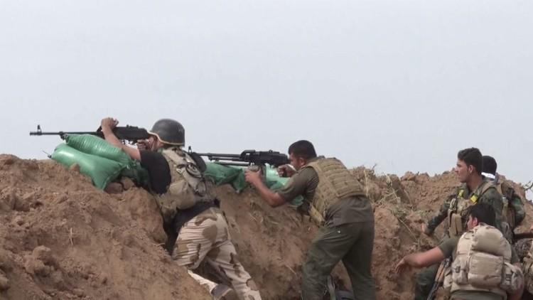 بالفيديو.. معركة بين الحشد الشعبي العراقي و