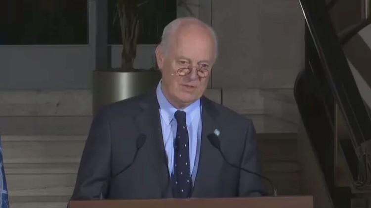 دي ميستورا: موسكو ودمشق وطهران وعمان أظهرت دعمها للعملية السياسية في سوريا