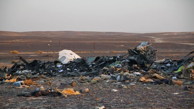 مصر تحيل ملف الطائرة المنكوبة في سيناء للنيابة بعد تقرير روسي