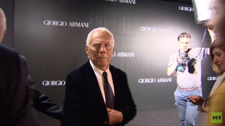 جورجيو أرماني في موسكو لأول مرة منذ 7 سنوات (فيديو)