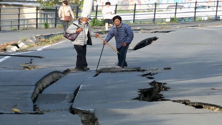 مصرع  19 شخصا بزلزال جديد جنوبي اليابان (فيديو)