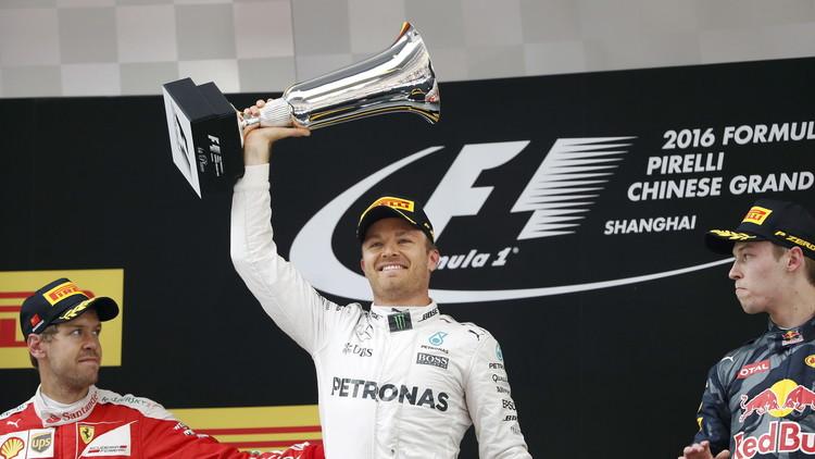 روزبرغ يتوج بجائزة الصين للفورمولا وان.. وفيتل يصف كفيات بـ