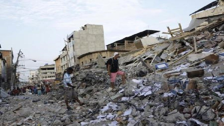 ارتفاع قتلى زلزال الإكوادور إلى 413