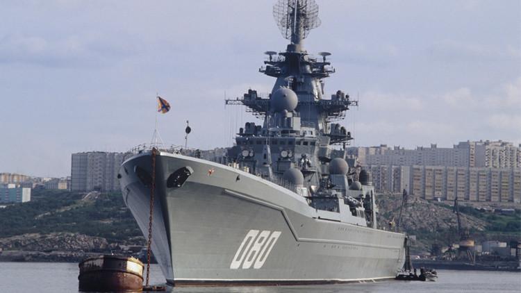 طراد ذري روسي مزود بصواريخ فرط صوتية