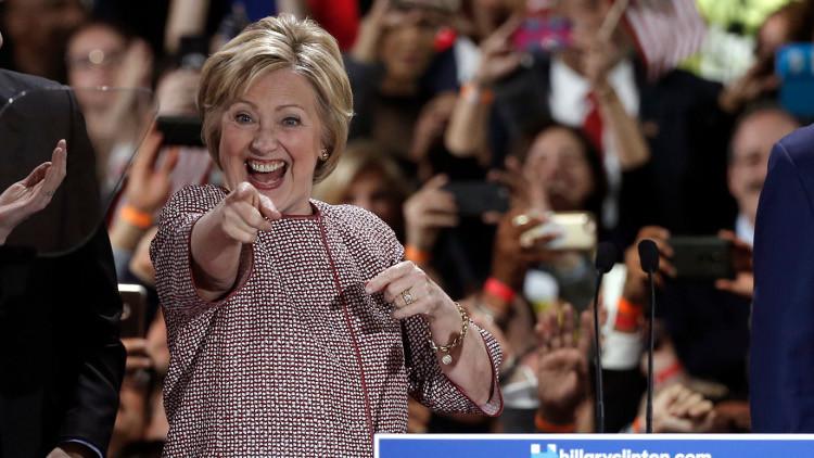 فوز كلينتون وترامب في الانتخابات التمهيدية بنيويورك