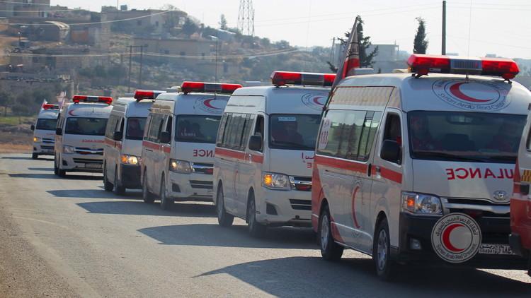 إجلاء 500 جريح من مناطق محاصرة في سوريا