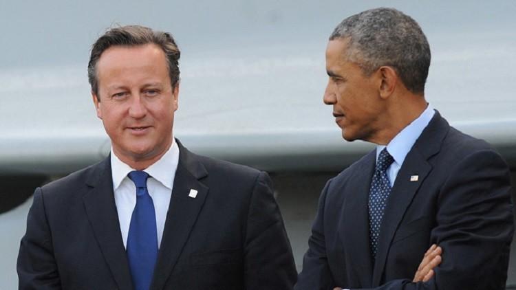 لدعم كاميرون في الاستفتاء أوباما يصل لندن
