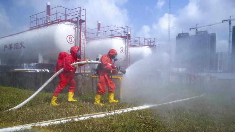 انفجار في مخزن للمواد الكيميائية والوقود بالصين