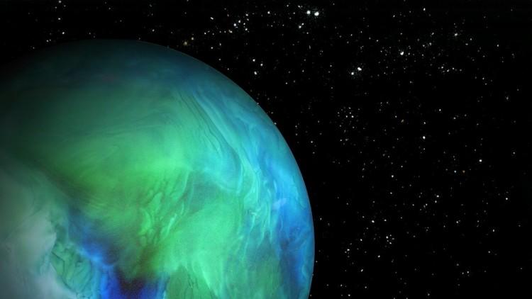 كوكب شبيه بالأرض (وفي الحقيقة ما هو إلا خلطة من الماء والقشطة وملونات غذائية وملح وبقدونس وباكنغ باودر)