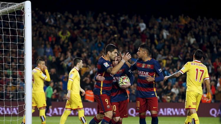 برشلونة يقسو على ضيفه سبورتينغ خيخون (فيديو)