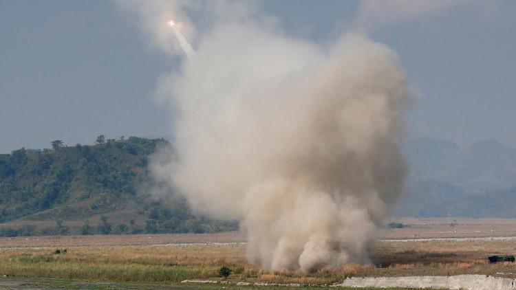 راجمات صواريخ أمريكية على الحدود التركية مع سوريا