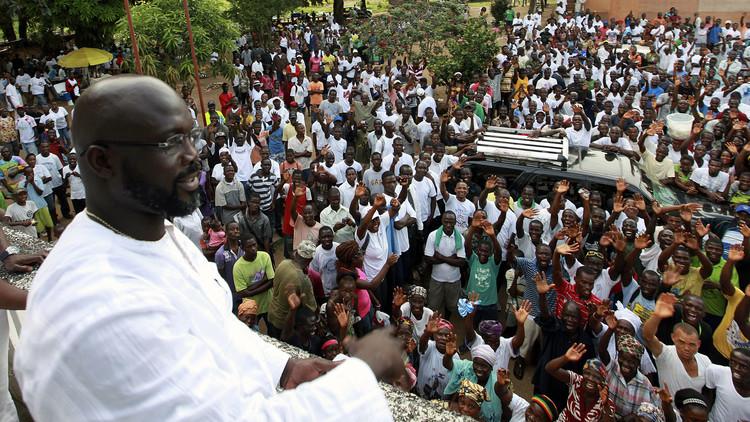 جورج وياه يعلن ترشحه للانتخابات الرئاسية في ليبيريا