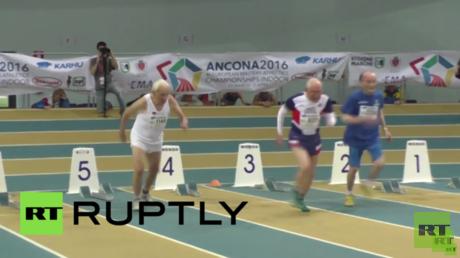 رياضي إيطالي بلغ الـ100 من عمره ينوي تحطيم أرقام قياسية في بطولة أوروبية