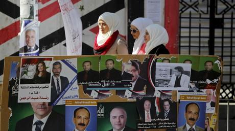 ملصقات انتخابية في دمشق