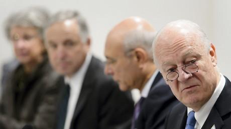 لقاء بين دي ميستورا ووفد الحكومة السورية في جنيف