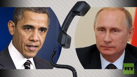 الرئيس الروسي فلاديمير بوتين ونظيره الأمريكي باراك أوباما