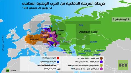 خريطة المرحلة الدفاعية من الحرب الوطنية العظمى