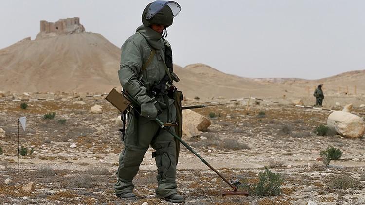 القوات الروسية تطهر مدن سوريا من الألغام