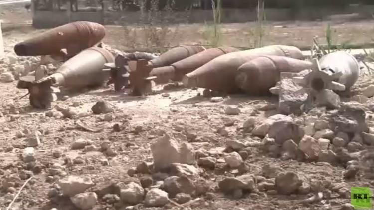 الدفاع الروسية: تفكيك 74 لغما بالقريتين