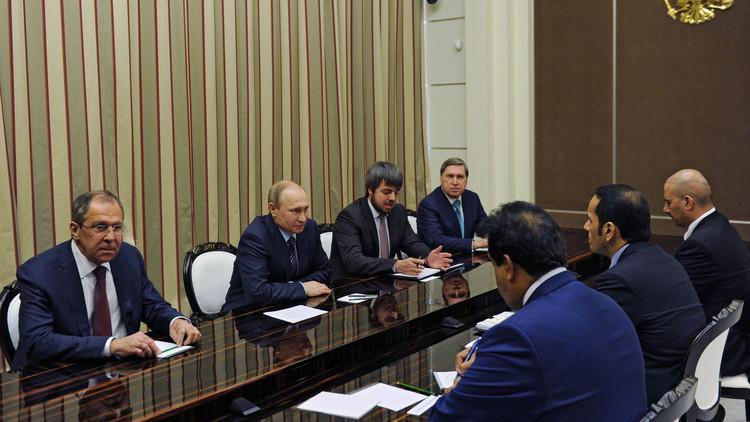 رسالة شفهية من الأمير تميم إلى بوتين بشأن سوريا
