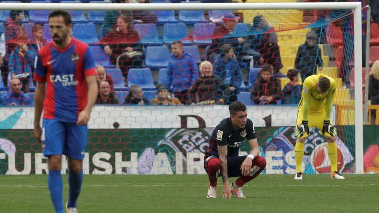 أتلتيكو مدريد خارج دائرة المنافسة على الليغا