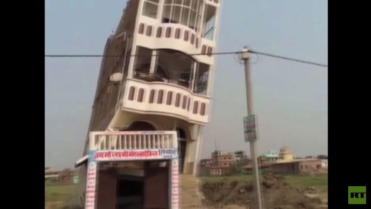 مبنى ينهار في مقاطعة بيهار (فيديو)