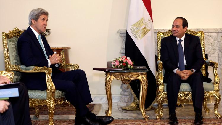 السيسي وكيري يناقشان عملية السلام في المنطقة