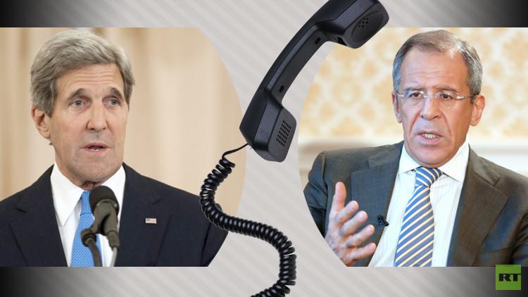 لافروف وكيري يبحثان سبل تسوية الأزمة السورية