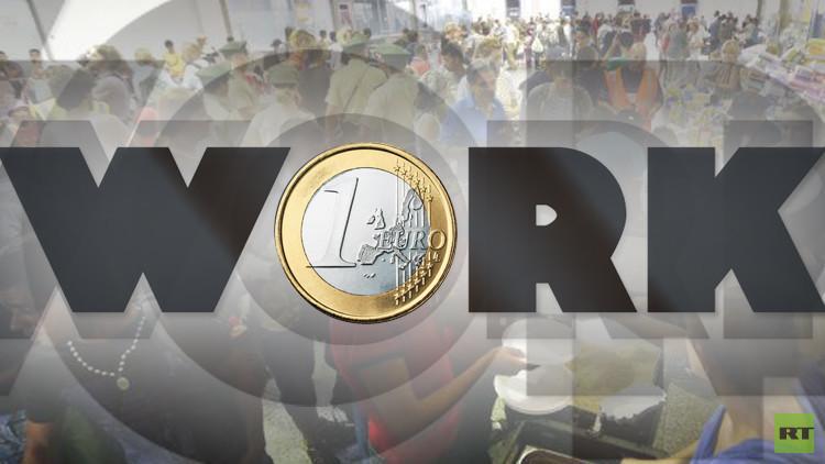 يورو للاجئ في ألمانيا مقابل كل ساعة عمل