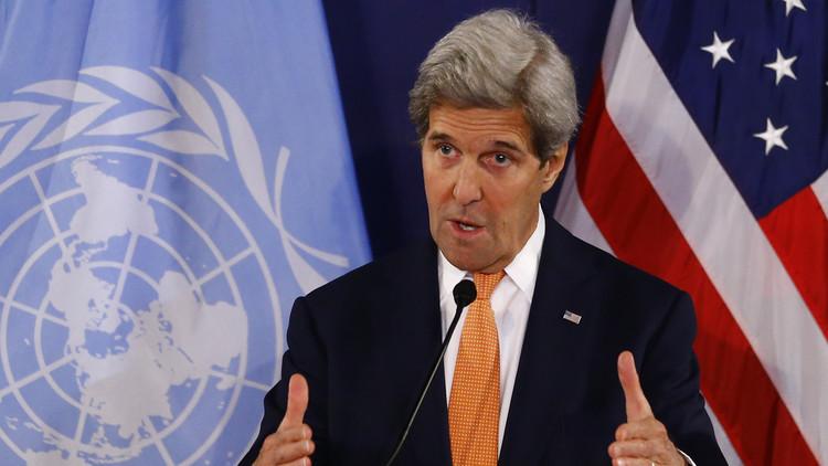 كيري يستبعد عمليات عسكرية للناتو بسوريا وليبيا