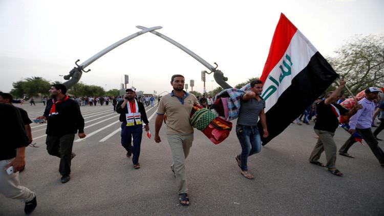 4 قتلى و90 جريحا في اقتحام المنطقة الخضراء ببغداد