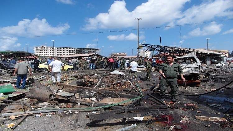 ارتفاع عدد ضحايا تفجيرات طرطوس وجبلة إلى 184 قتيلا