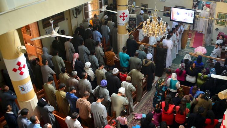 كنيسة في محافظة المنيا جنوبي القاهرة (صورة أرشيفية)